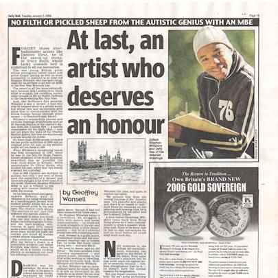 At last, an artist who deserves an honour - Media archive
