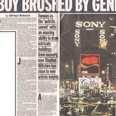 Boy brushed by genius - Media archive