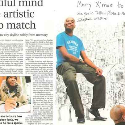 A beautiful mind and the artistic talent to match - Media archive
