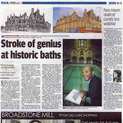Stroke of genius at historic baths - Media archive