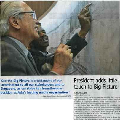 President adds little touch to Big Picture - Media archive