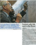 President adds little touch to Big Picture - Stephen Wiltshire archive - what others say