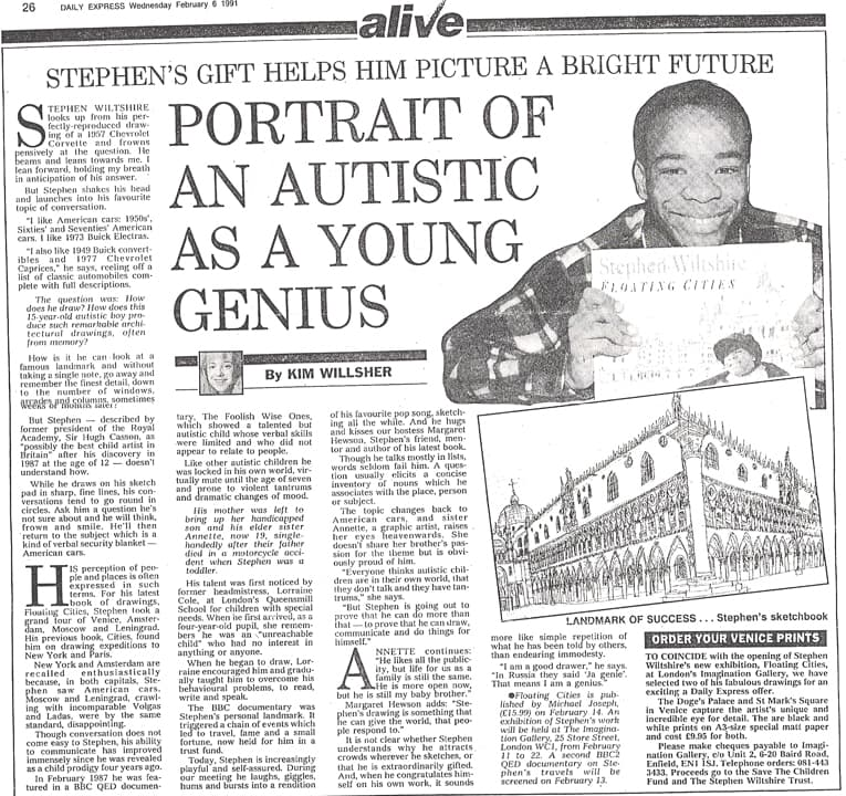 Portrait of an autistic as a young genius