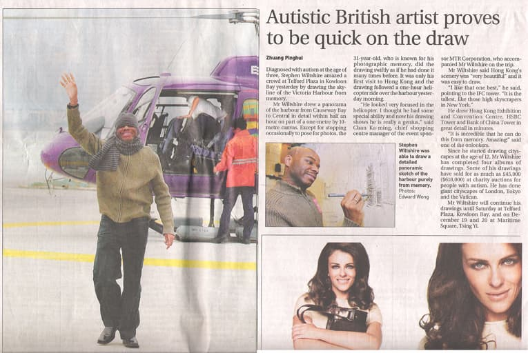Autistic British artist proves to be quick on the draw