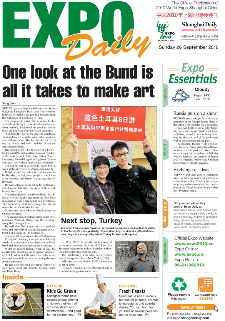 One look at the Bund is all it takes to make art