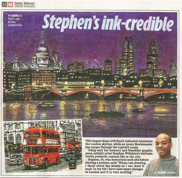 Stephens ink-credible - The Stephen Wiltshire Archive - Press cuttings