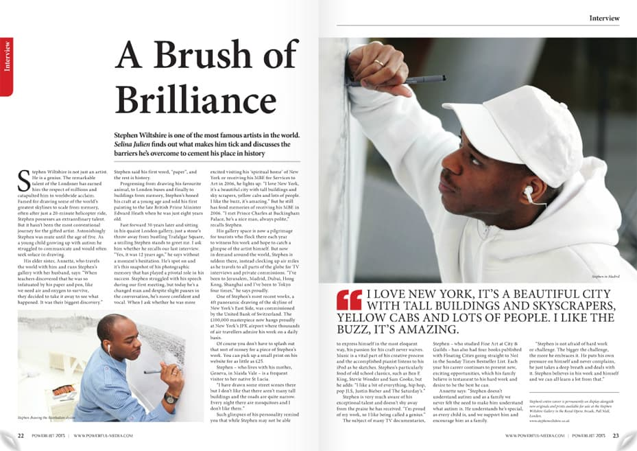 A Brush of Brilliance - Powerlist 2013