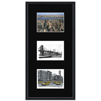 New York collage with black mount (framed) - Gifts & Merchandise for sale