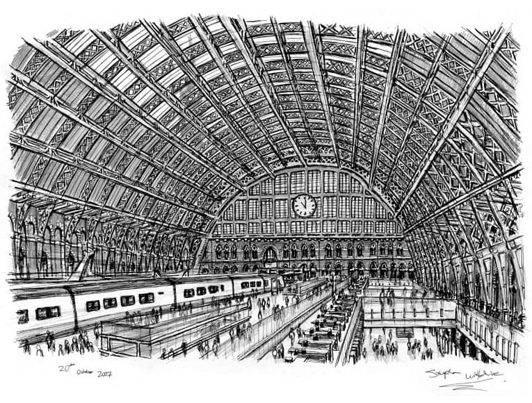 Interior of St Pancras Station