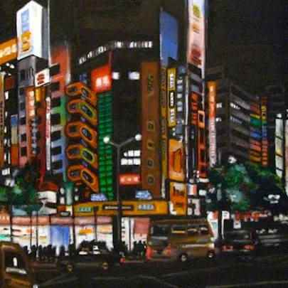 Electric City, Tokyo - Paintings - Gallery