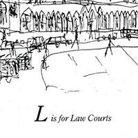 London Alphabet - L for Law Courts - Gallery