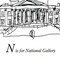 London Alphabet - N for National Gallery - Original Drawings