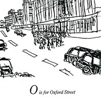 London Alphabet - O for Oxford Street - Original Drawings