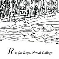 London Alphabet - R for Royal Naval College - Original Drawings