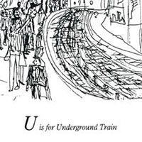 London Alphabet - U for Underground Train - Original drawings