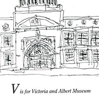 London Alphabet - V for Victoria and Albert Museum - Drawings - Gallery