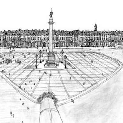 Palace Square, Leningrad 1990 - Original Drawings