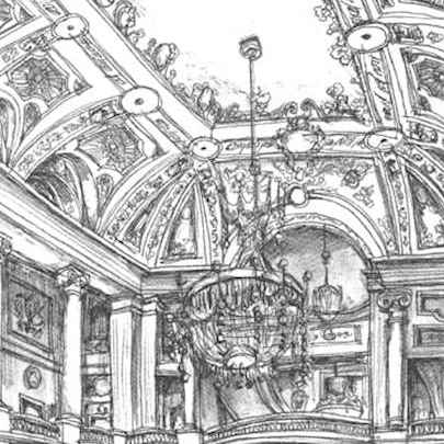 A lavish interior at the Chicago Theater - Drawings - Gallery