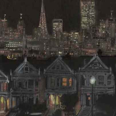 San Francisco by night - Drawings - Gallery
