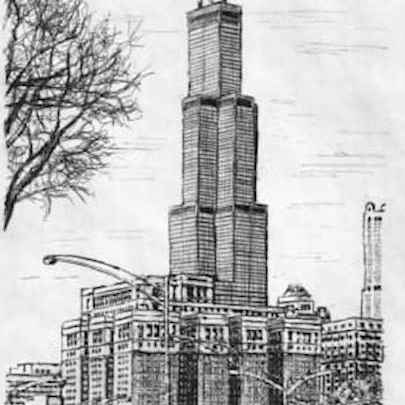 Chicago, Sears Tower 2003 - Original drawings
