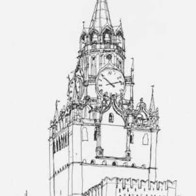 Spaasky Tower, Kremlin - Original Drawings