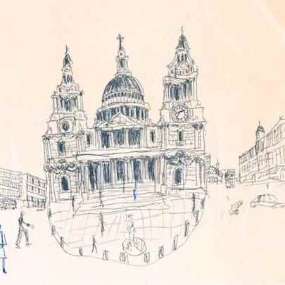 St Pauls, London 1983 - Drawings - Gallery