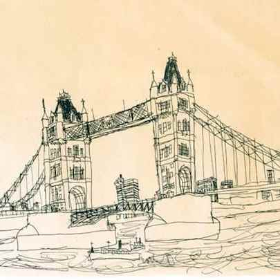 Tower Bridge, London 1983 - Drawings - Gallery