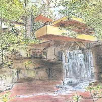 Fallingwater - Bear Run - Pennsylvania - Drawings - Gallery