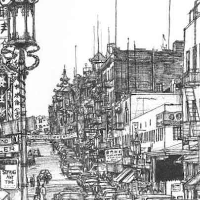 Chinatown San Francisco - Drawings - Gallery