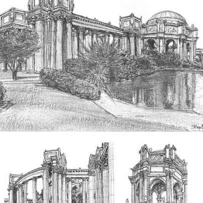 Palace of Fine Arts - Drawings - Gallery