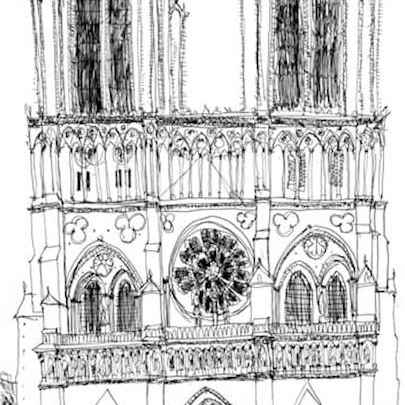Notre Dame, Paris 1988 - Original Drawings