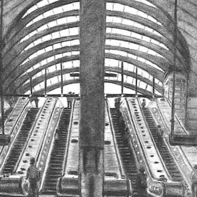 Canary Wharf underground station 2002 - Original drawings