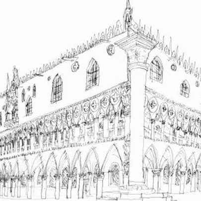 The Doges Palace, Venice 1989 - Original Drawings
