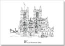 London Alphabet - W for Westminster Abbey - Originals for sale