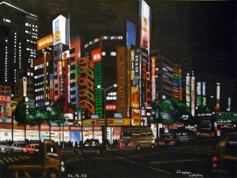 Electric City, Tokyo - original drawings and prints by Stephen Wiltshire