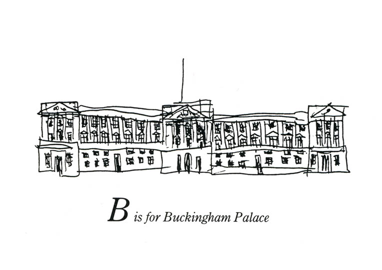 London Alphabet - B for Buckingham Palace - originals and prints by Stephen Wiltshire MBE