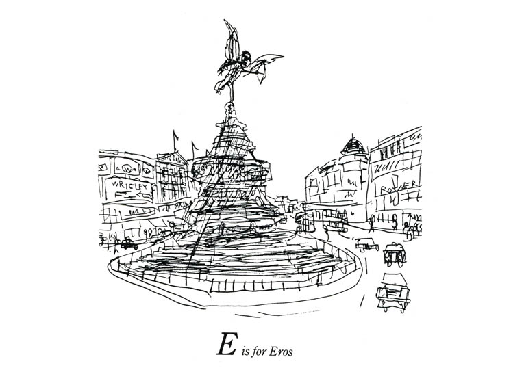 London Alphabet - E for Eros - originals and prints by Stephen Wiltshire MBE