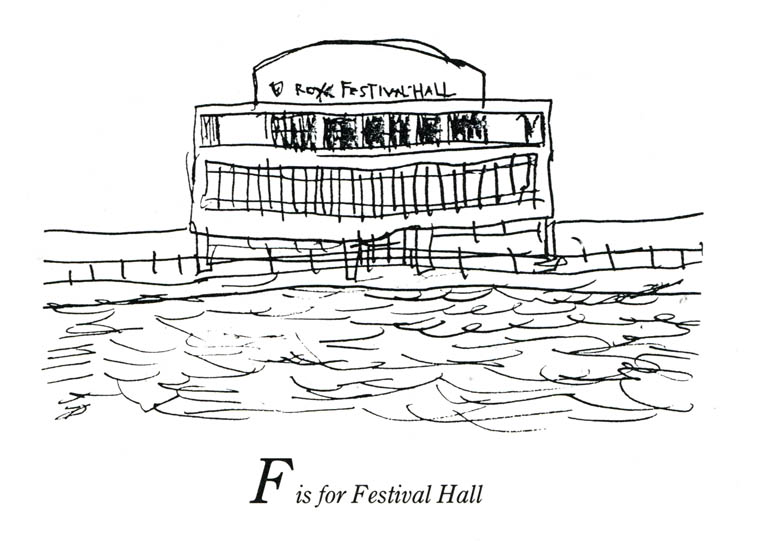 London Alphabet - F for Festival Hall - originals and prints by Stephen Wiltshire MBE