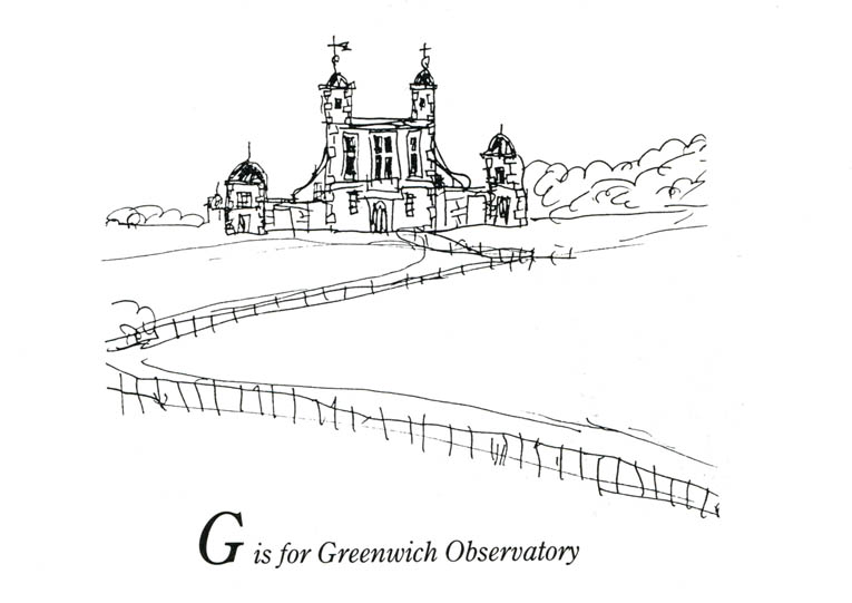 London Alphabet - G for Greenwich Observatory - originals and prints by Stephen Wiltshire MBE