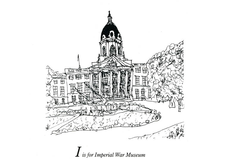 London Aplhabet - I for Imperial War Museum - original drawings and prints by Stephen Wiltshire