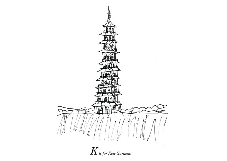 London Alphabet - K for Kew Gardens - originals and prints by Stephen Wiltshire MBE