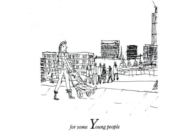 London Alphabet - Y for some Young people - original drawings and prints by Stephen Wiltshire