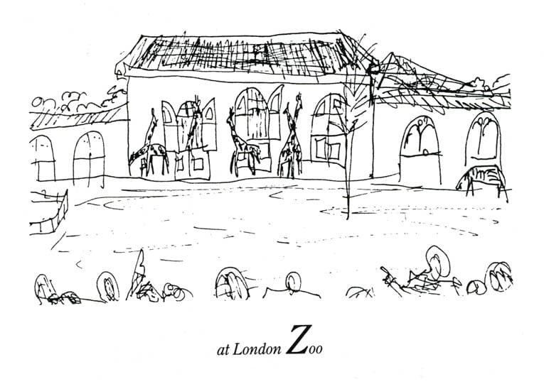 London Alphabet - Z for London Zoo - Original Drawings and Prints for Sale