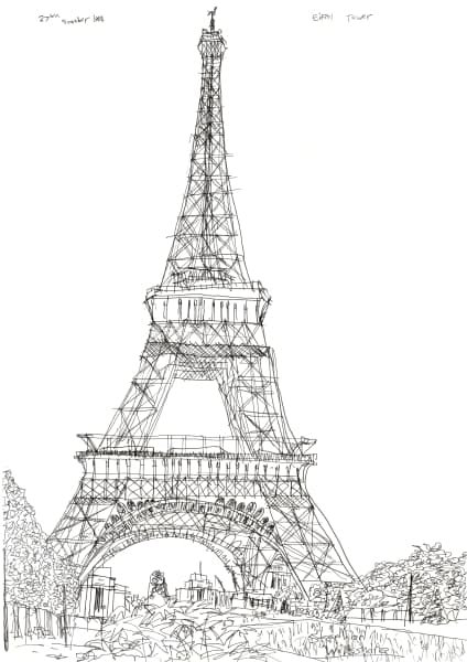 Eiffel Tower - 1988 - originals and prints by Stephen Wiltshire MBE