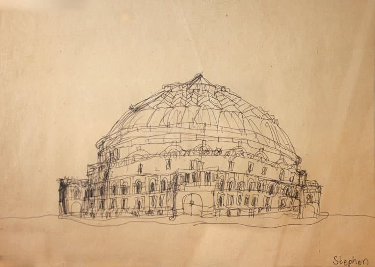 Royal Albert Hall 1983 - drawings and paintings by Stephen Wiltshire MBE