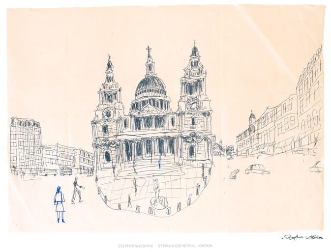 St Pauls, London 1983 - originals and prints by Stephen Wiltshire MBE