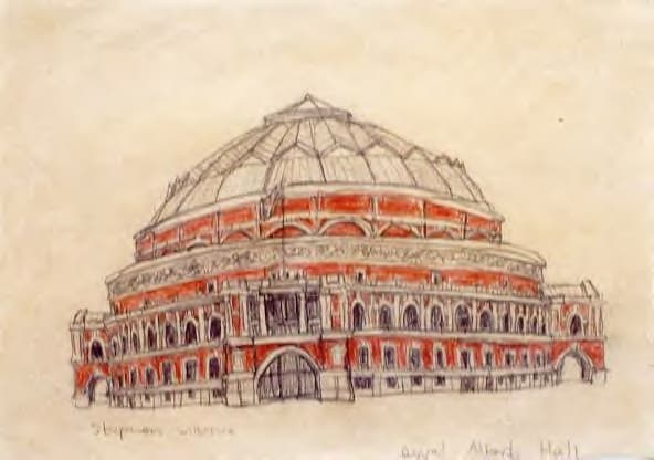 Royal Albert Hall, London 1986 - original drawings and prints by Stephen Wiltshire