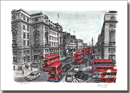 Lower Regent street with Red Double Decker Buses - Originals for sale