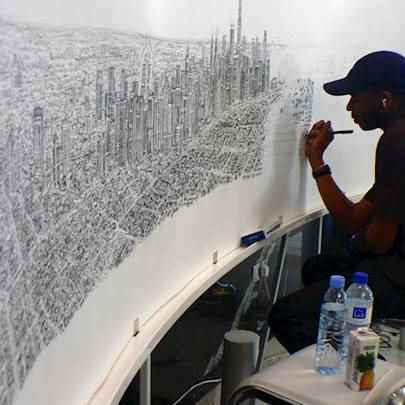 Drawing of Dubai Panorama