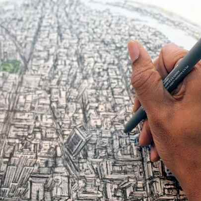 image_library/full/Drawing_Globe_of_New_York.jpg - Stephen Wiltshire media archive
